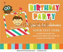 kid invitation card design vector illustration stock vector