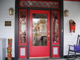 Red Front Doors Decorations Bunker Red Door With Old Knob Style In Navy Door