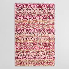 pink and ivory tufted wool samara area rug world market