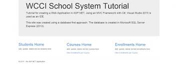 tutorial web c tutorial create asp net mvc web app in c using database 1st approach