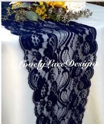 Navy Blue Table L Navy Weddings Navy Blue Burlap Lace Table Runner 1ft 10ft