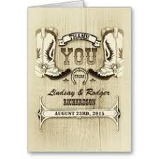 western thank you card templates western thank you cards blank