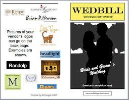playbill wedding program wedbill a playbill like wedding program template