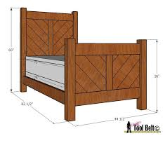 Free Wood Twin Bed Plans by 109 Best Platform Bed Plans Images On Pinterest Bed Plans