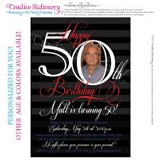 Invitation Cards For 50th Birthday Party How To Select The 50th Birthday Invitations For Him Free Ideas
