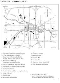 Michigan State University Map by Michigan State Capitol Parking