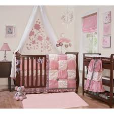 Pink And White Nursery Curtains by Baby Nursery Baby Room Decor Ideas With Brown Wooden Crib