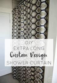 How Long Are Shower Curtains Diy Extra Long Shower Curtain Hometalk