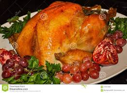 home cooked thanksgiving turkey roasted to perfection stock photo