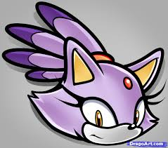 how to draw blaze the cat easy step by step sonic characters
