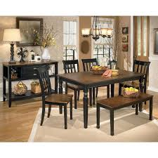 Dining Room Chairs And Benches Owingsville Dining Room Set W Bench Signature Design By Ashley