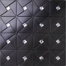 Peel And Stick Backsplash Diamond Tile Black Aluminum Sticker Pinwheel - Glass peel and stick backsplash