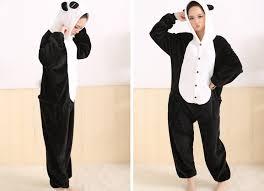 flannel fleece panda costume onesies animal