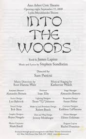 ann arbor civic theatre program into the woods september 11