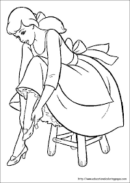 cinderella coloring pages free kids