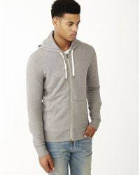 levi u0027s original zip up hoodie medium grey heather in gray for men