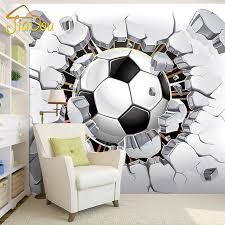 sports murals for bedrooms 3d soccer wallpaper sport background mural living room sofa