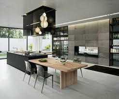 cuisine avec la cuisine équipée avec îlot central 66 idées en photos