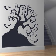 halloween bat wall decals haunted tree wall decal color the walls of your house