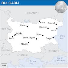 bulgaria map blank political bulgaria map with cities