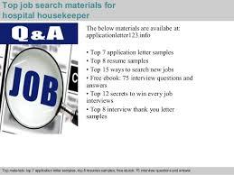 Sample Resume For Hospital Housekeeping Job by Hospital Housekeeper Application Letter
