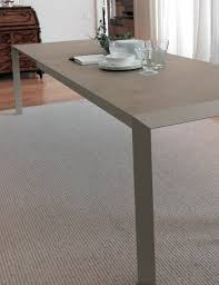 bontempi extending table with glass top izac steel structure