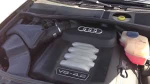 2004 audi a6 v8 4 2 engine air filter change diy youtube