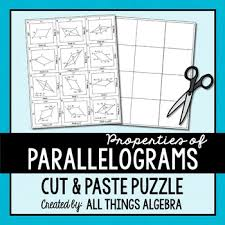 parallelograms puzzle by all things algebra teachers pay teachers