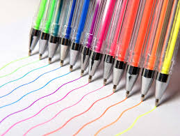 polaroid colorful fluorescent bright neon gel pens pack of 12
