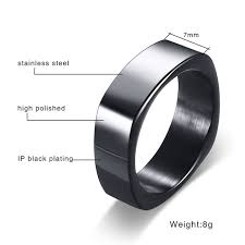 stainless steel wedding bands online shop gents rectangle flat top ring for men stainless steel