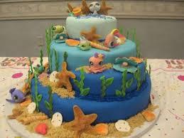 littlest pet shop cake ideas under the sea littlest pet shop