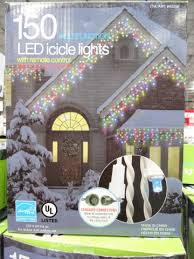 ge led icicle lights costco multifunction 150 led icicle lights