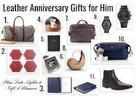 gift ideas for him 3 year anniversary leather gift ideas for him fashionable