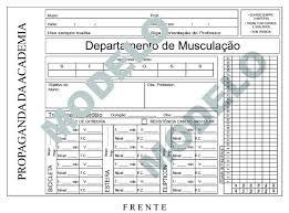 Conhecido 100 Fichas De Treino Personalizadas - Academia Musculação - R$ 120  &TY23