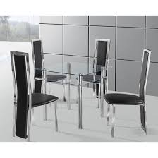 Glass Dining Room Table And Chairs 100 Best 4 Seater Glass Dining Sets Images On Pinterest Dinners