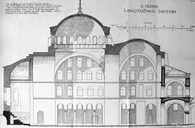 byzantine architecture section of hagia irene begun 532
