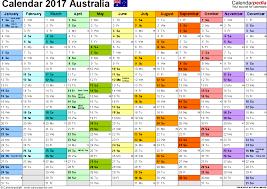Editorial Calendar Template Excel 2017 Calendar Australia Monthly Calendar Template