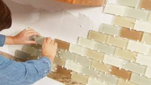 Tiling A Kitchen Backsplash Do It Yourself Diy Budget Kitchens Diy