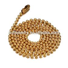 steel ball necklace images Wholesale gold ball chain stainless steel bead chains for necklace jpg