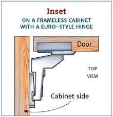 what is the inset of a cabinet hinge nickel finish flush inset 105 degree cabinet hinge 1 pair