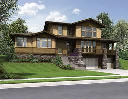 front sloping lot house plans slope board batten aka barn siding vertical design w wide