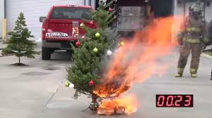 what happens when your christmas tree catches fire live and