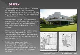 Villa Savoye Floor Plan Le Corbusier