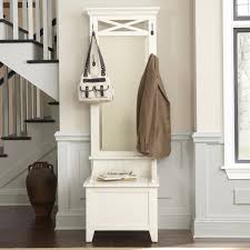 Tall Storage Bench Enthralling White Wooden Small Entry Bench With Storage Space And