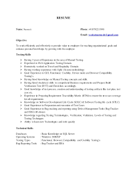 Manual Tester Resume Types Of Functional Testing J2ee Application Testing 1 Stunning