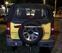 suzuki jimny interior suzuki jimny canvas rear brazil spy shot indian autos blog