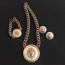bracelet earring jewelry necklace images 89 off versace jewelry versace inspired necklace bracelet jpg