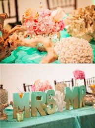 mint wedding decorations wedding decorations luxury coral and mint wedding decorations