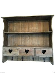 chic natural wood wall shelf display unit