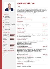 Cv Sjabloon Nederlands cv opstellen invullen en direct je cv downloaden cv nl